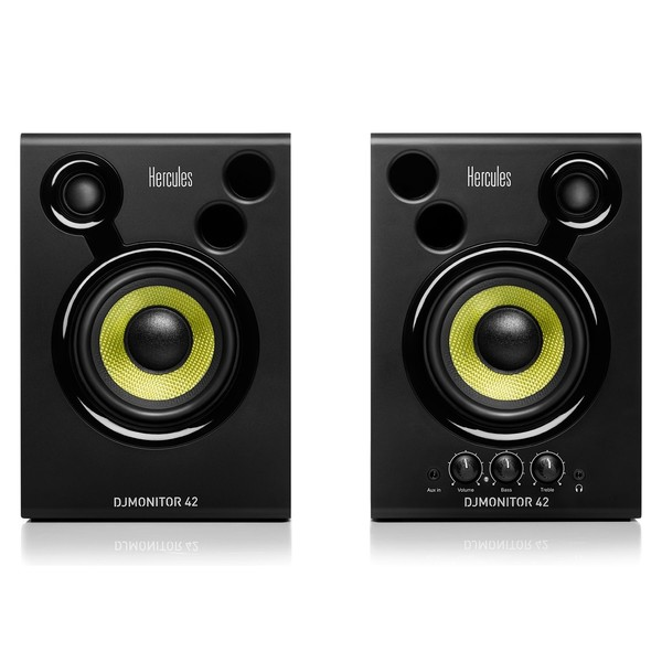 Hercules DJMonitor 42 Active DJ Monitors - Front