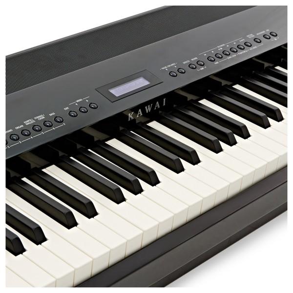 Kawai ES8 Digital Piano, Black logo