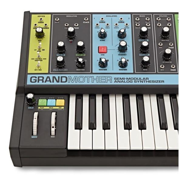 Moog Grandmother Semi-Modular Analog Synthesizer close 2
