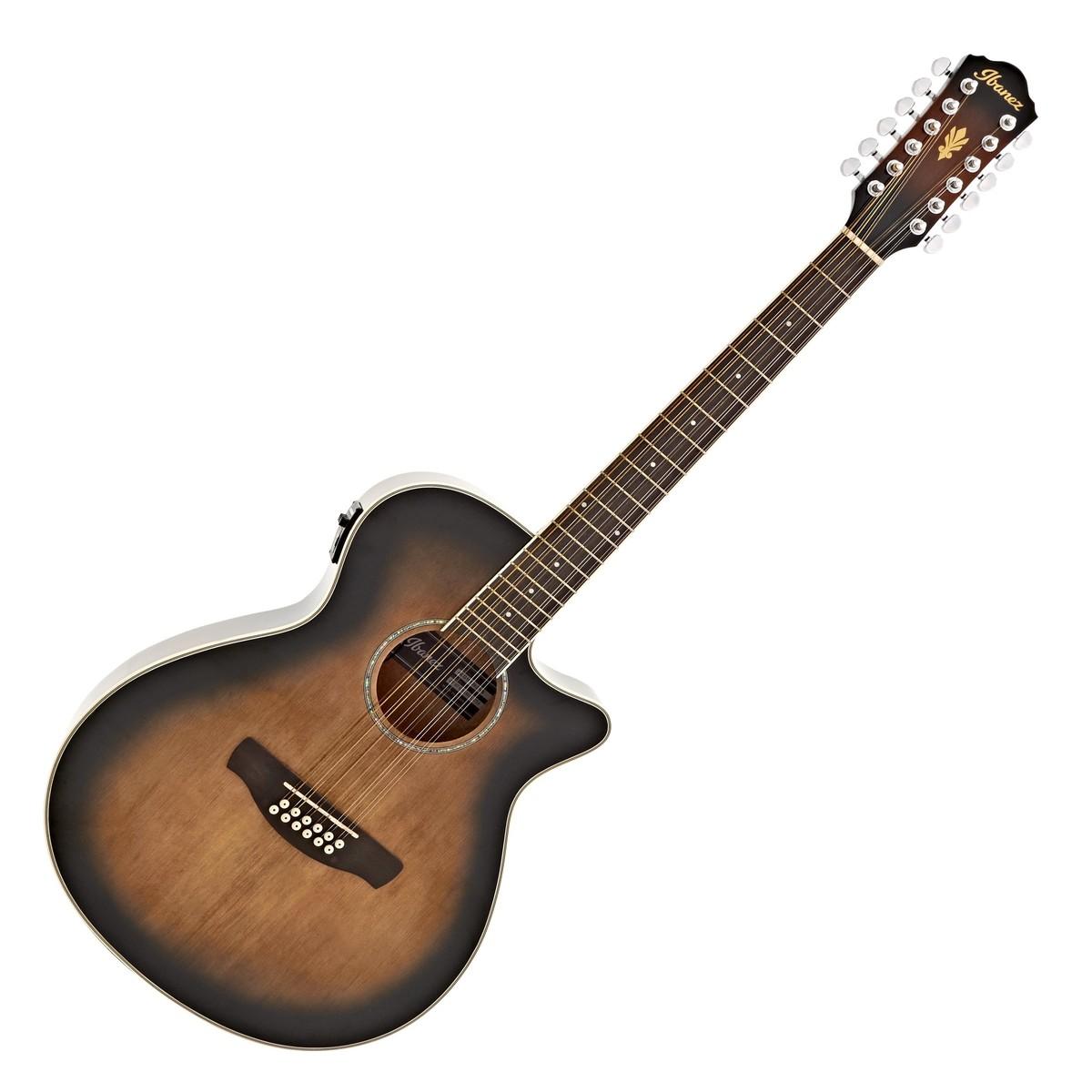 ibanez aeg1812ii 12 string electro acoustic 2018 violin sunburst at gear4music. Black Bedroom Furniture Sets. Home Design Ideas