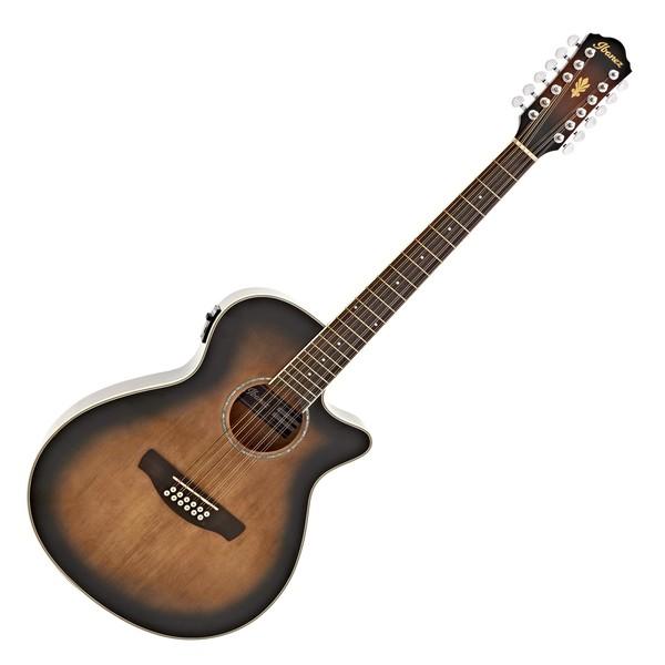 Ibanez AEG1812II 12 String Electro Acoustic 2018, Violin Sunburst main