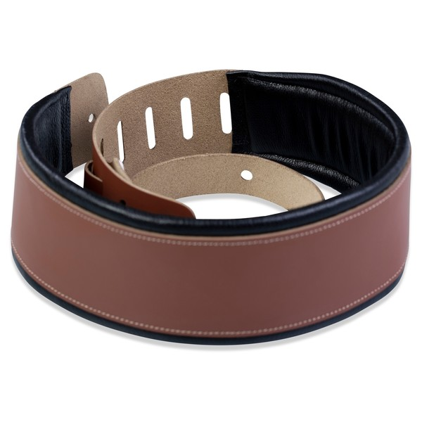 Levys DM1 Padded Strap, Walnut Rolled