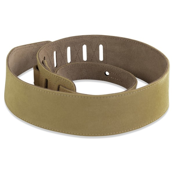 Levys MS26 Suede Leather Strap, Tan Rolled