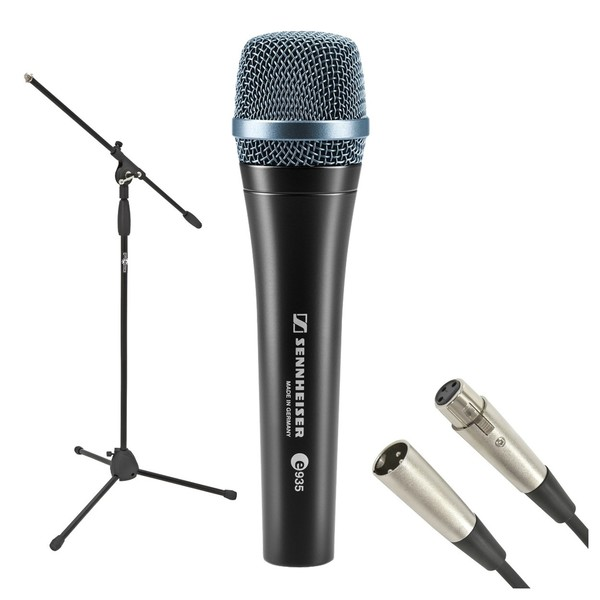 Sennheiser E935 Dynamic Vocal Microphone with Stand and Cable, Full Package
