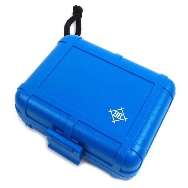 Dr Suzuki Black Box DJ Cartridge Case, Blue - Angled Closed