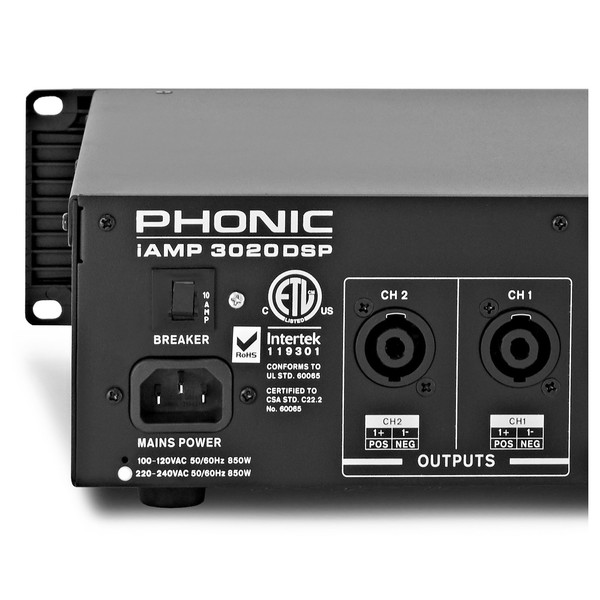 Phonic iAMP 3020 Digital Amplifier With DSP back 1
