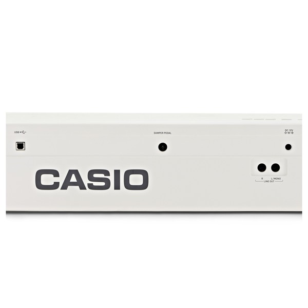 Casio Privia PX 160 Digital Piano, White logo