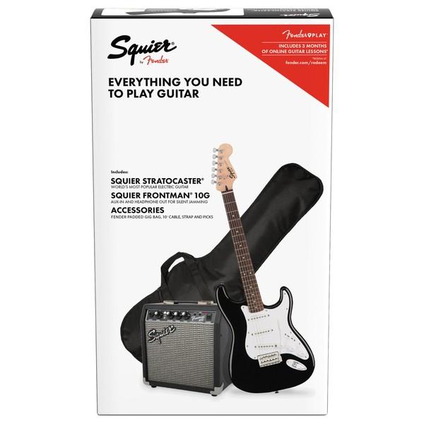 Squier Bullet Stratocaster Pack, Black - Vertical