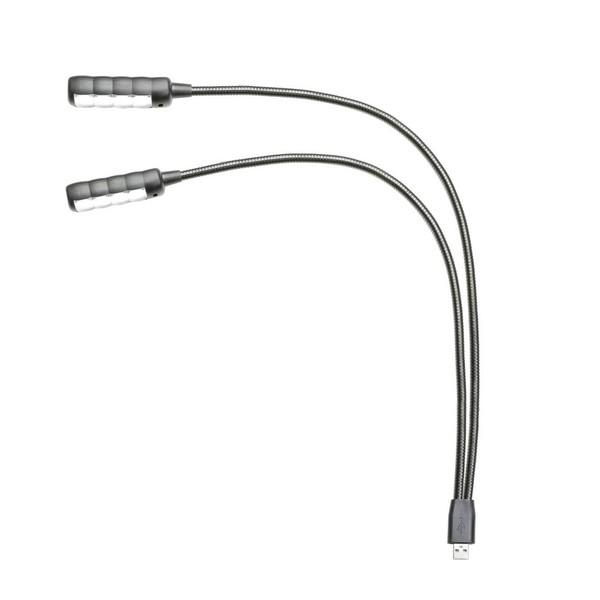 Adam Hall SLED ULTRA Dual USB Gooseneck Lamp