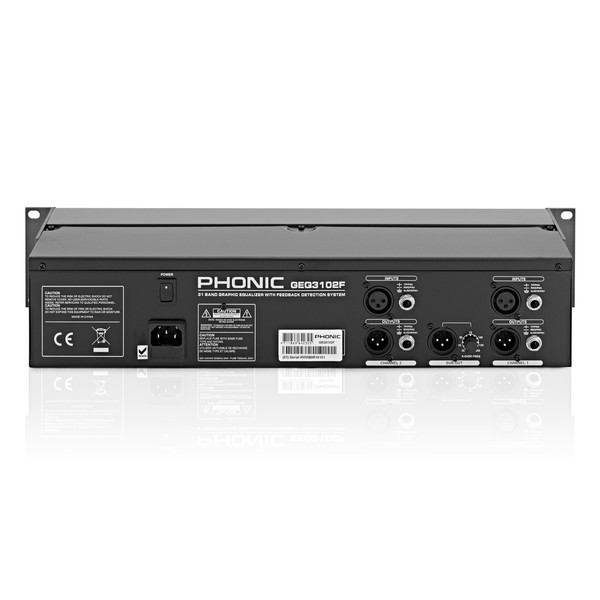 Phonic GEQ3102F 31-Band Stereo Graphic Equalizer back