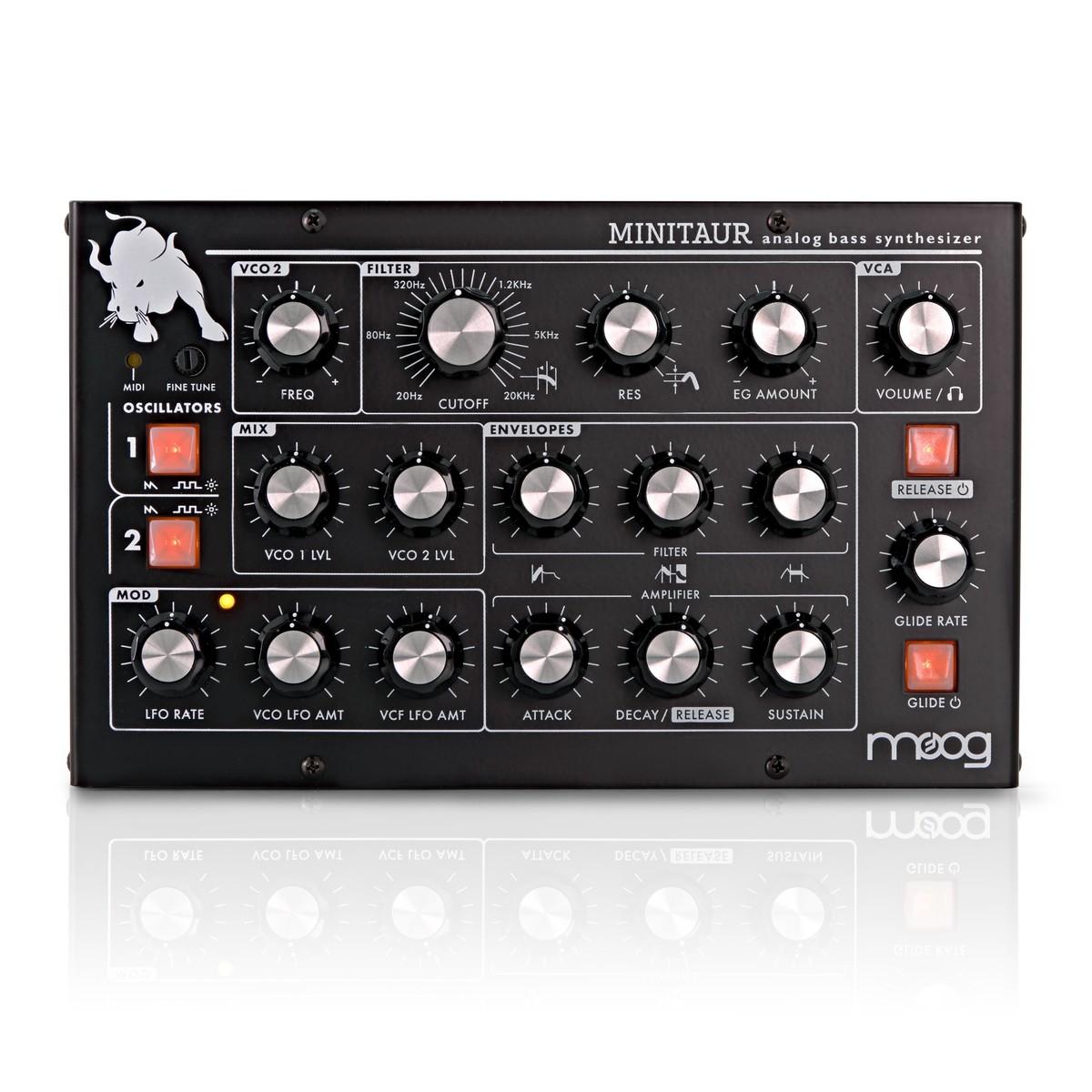 Shop now   Moog MINITAUR Analog Bass Synthesizer