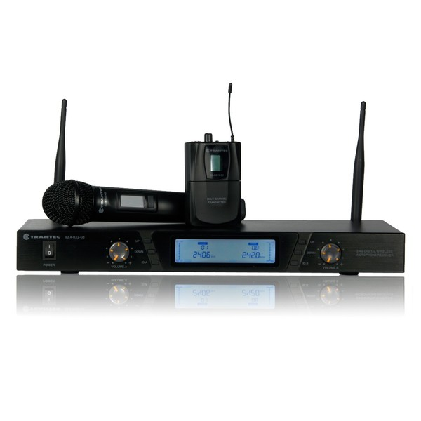 Trantec S2.4HBX Digital Dual Wireless System, 2.4GHz, Full System