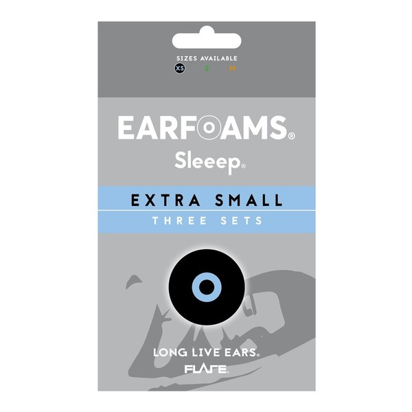 Flare Audio Replacement Earfoams for Sleeep Ear Plugs, X-Small