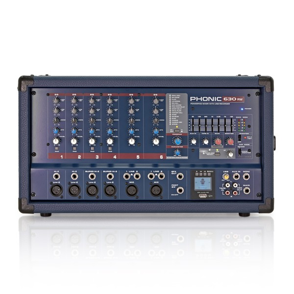 Phonic Powerpod630RW Powered Mixer With USB Recorder & Bluetooth