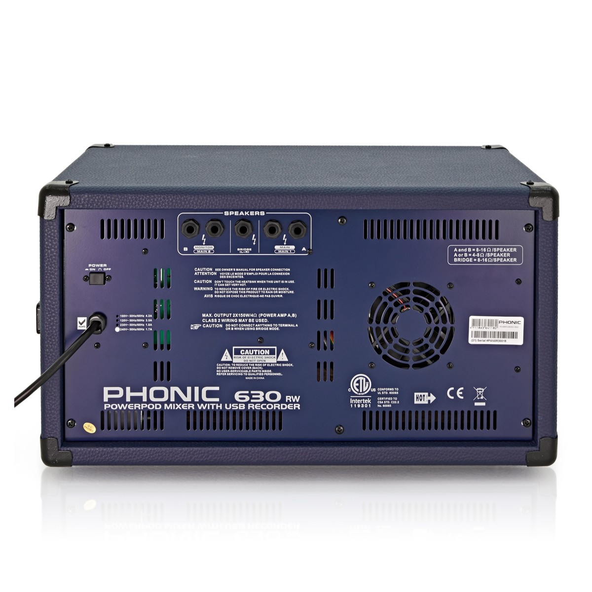 Phonic Powerpod630rw Powered Mixer With Usb Recorder Bluetooth At 8r 625w Loudspeaker Driven By Power Amplifier