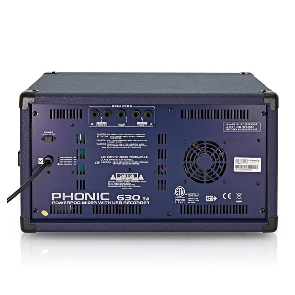 Phonic Powerpod630RW Powered Mixer With USB Recorder & Bluetooth