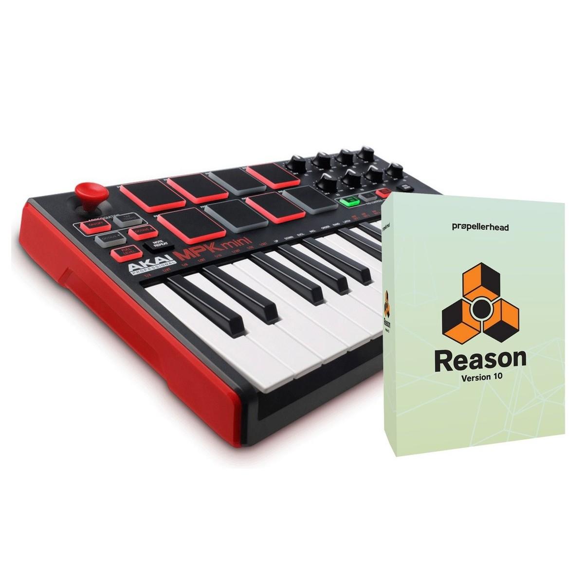 Akai MPK Mini 2 MIDI Keyboard with Reason 10 Upgrade