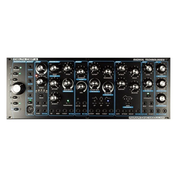 Radikal Technologies Delta Cep A Paraphonic Synthesizer, Eurorack - Top