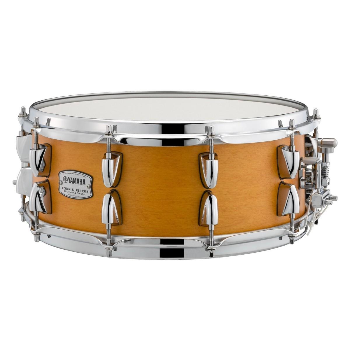 yamaha tour custom 14 x 5 5 39 39 snare drum caramel satin at gear4music. Black Bedroom Furniture Sets. Home Design Ideas
