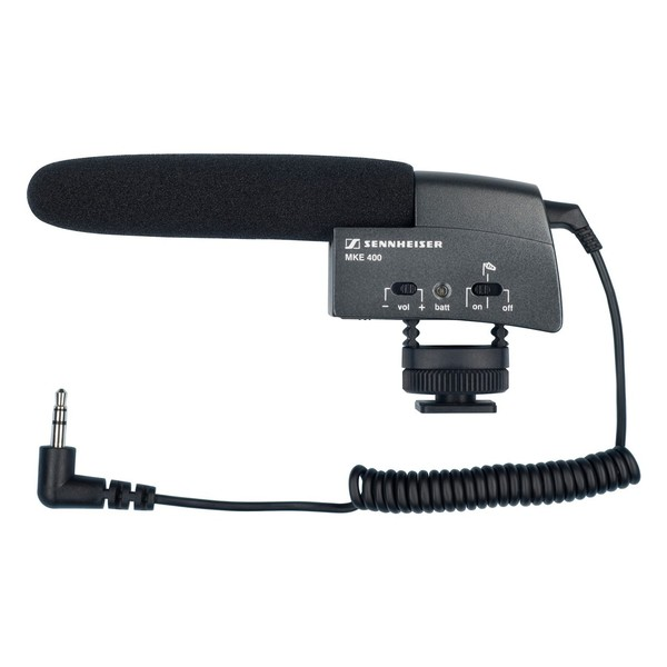 Sennheiser MKE 400 Compact Shotgun Microphone for Cameras, Full Microphone