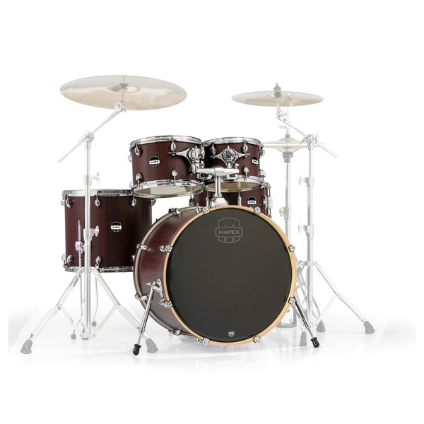 Mapex Mars 22'' Rock 5 Piece Shell Pack, Bloodwood - Main Image