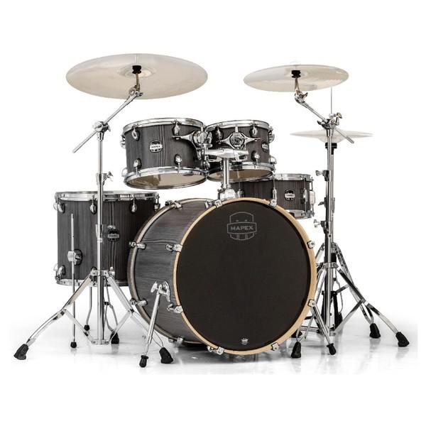 Mapex Mars 529 Rock 22'' 5 Piece Drum Kit, Smokewood - Main Image