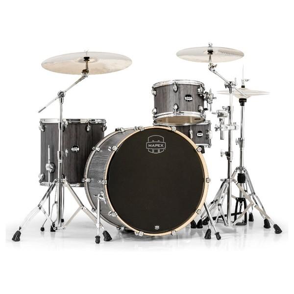 Mapex Mars 446 Big Beat 24'' 4 Piece Drum Kit, Smokewood - Main Image