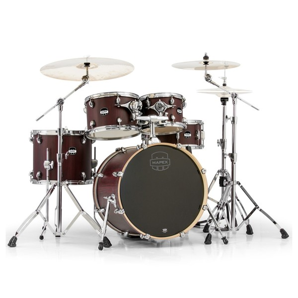 Mapex Mars 504 Fusion 20'' 5 Piece Drum Kit, Bloodwood - Main Image