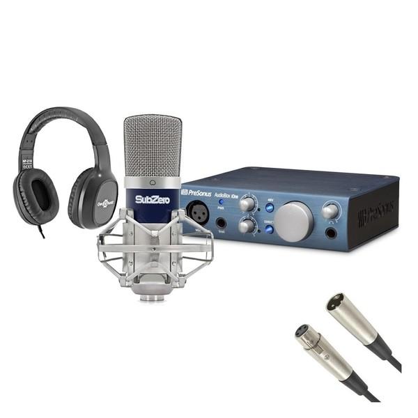 PreSonus AudioBox iOne and Subzero SZC-400 Pack - Full Bundle