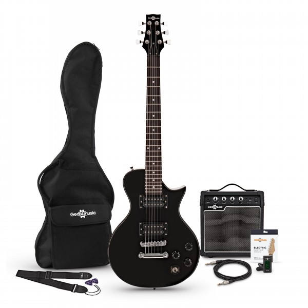 3/4 New Jersey II Electric Guitar + Amp Pack, Black