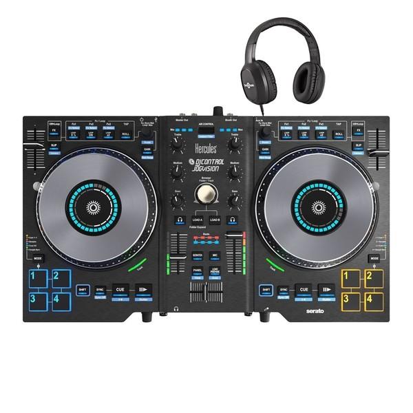 Hercules DJControl Jogvision Serato Controller With Free Headphones - Main