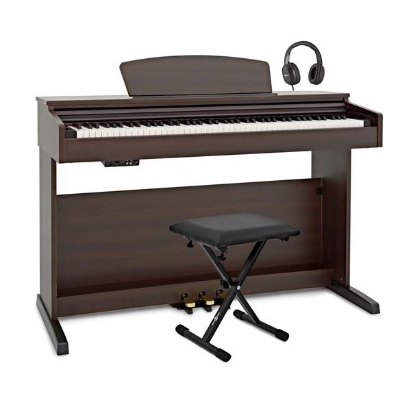 DP-10X Digital Piano by Gear4music + Accessory Pack, Dark RW