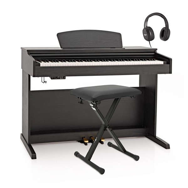 DP-10X Digital Piano by Gear4music + Accessory Pack, Matte Black