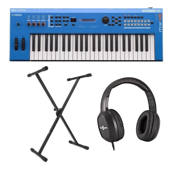 Yamaha MX49 II with Stand and Headphones, Blue - Main