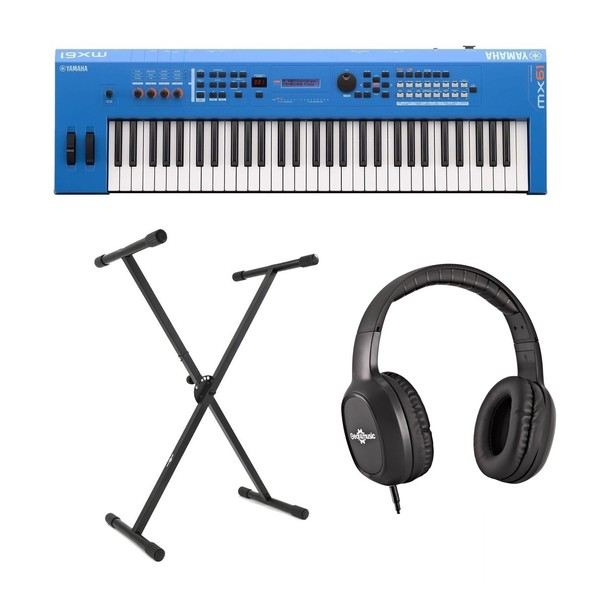 Yamaha MX61 II with Stand and Headphones, Blue - Main