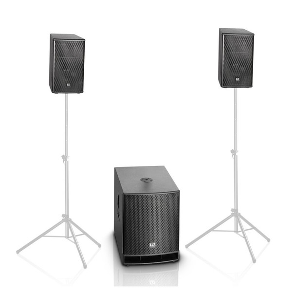 LD Systems DAVE 15 G3 Portable Active PA System Stands Not Included