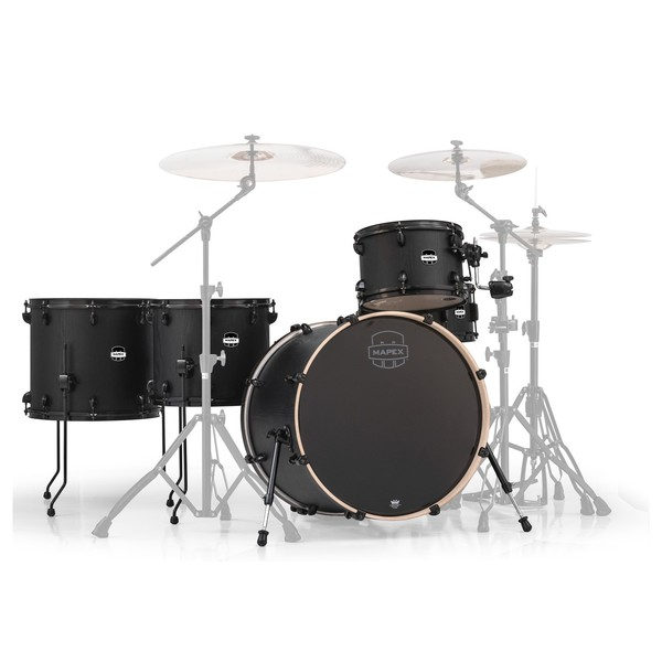 Mapex Mars 22'' Crossover Retro Fusion 5 Piece Shell Pack, Nightwood - Main Image