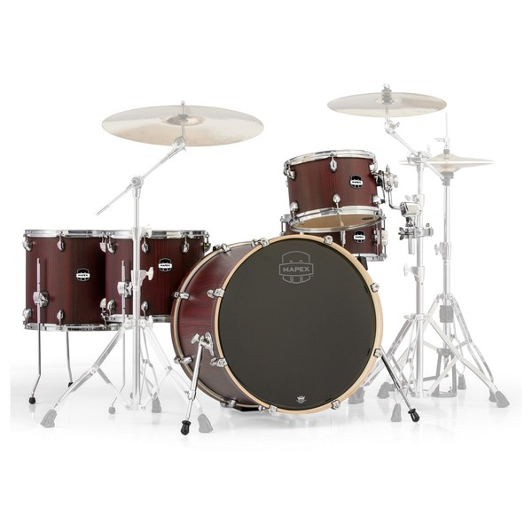 Mapex Mars 22'' Crossover Retro Fusion 5 Piece Shell Pack, Bloodwood - Main Image
