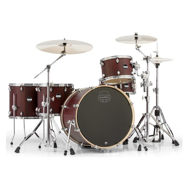 Mapex Mars 528 Crossover Retro Fusion 22'' 5 Pc Drum Kit, Bloodwood - Main Image