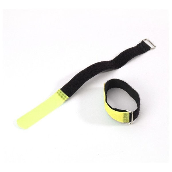 Adam Hall Hook and Loop Cable Tie 300 mm x 20 mm, Yellow
