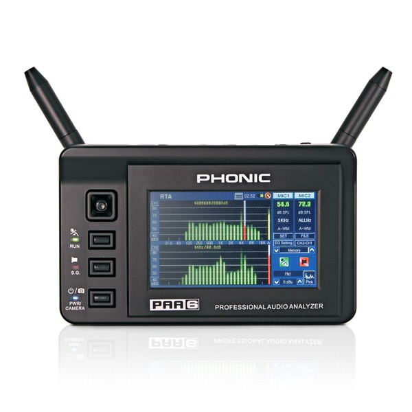 Phonic PAA6 2-Channel Audio Analyzer With Colour Touch LCD main