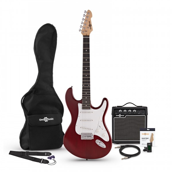 LA Electric Guitar + Amp Pack, Red