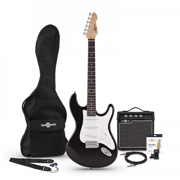 LA Electric Guitar + Amp Pack, Black