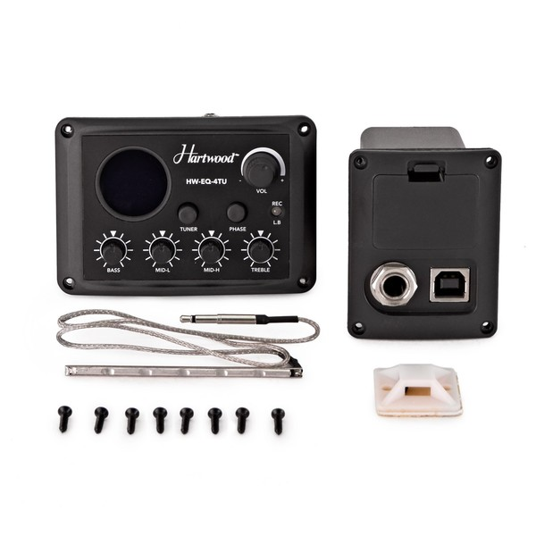 Hartwood 4-Band Active Preamp with Tuner and USB