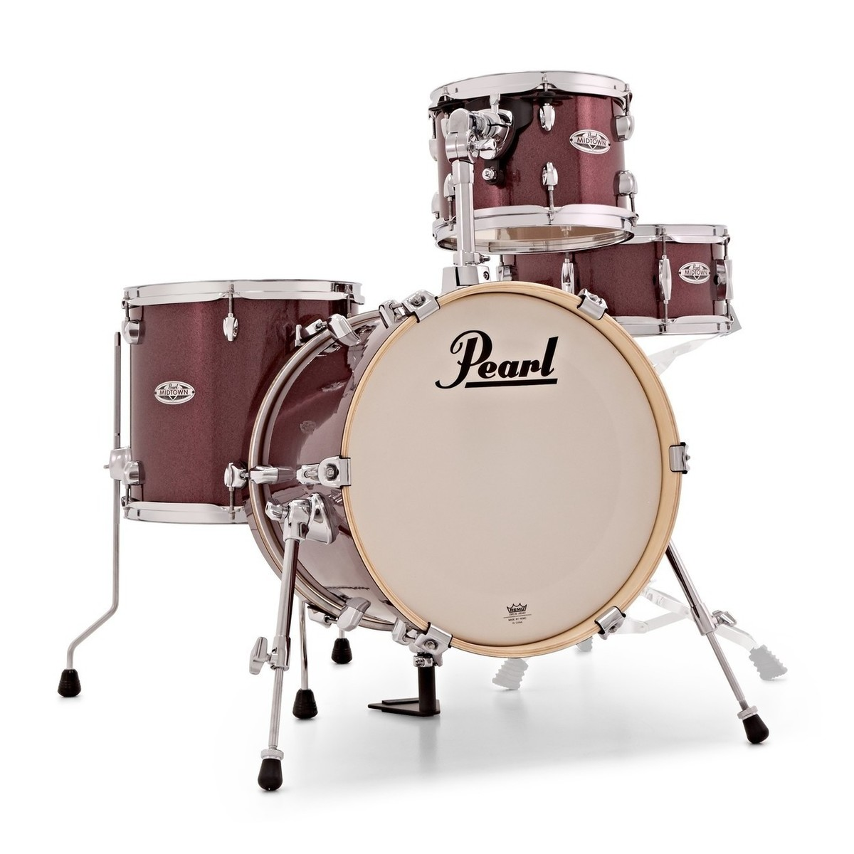 Pearl Midtown 4 Piece Compact Shell Pack Black Cherry Glitter