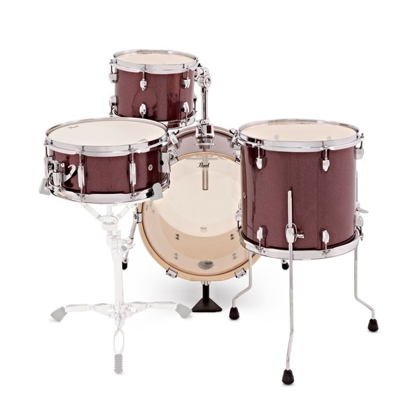 Pearl Midtown 4 Piece Compact Shell Pack, Black Cherry Glitter