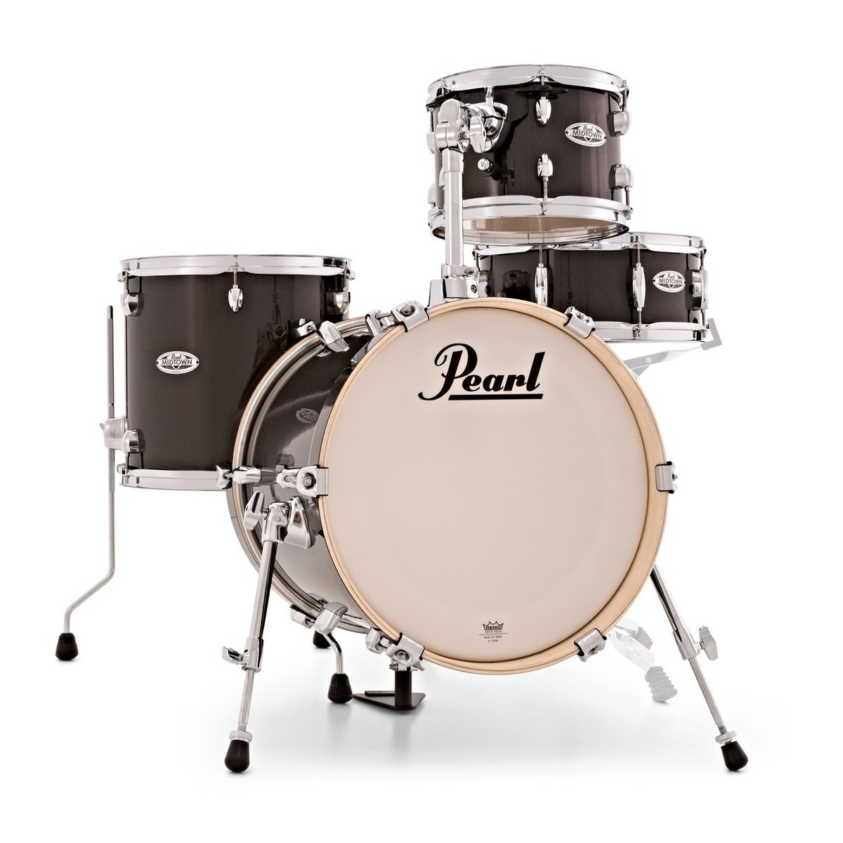 Pearl Midtown 4 Piece Compact Shell Pack Black Gold Sparkle