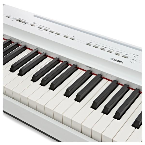 Yamaha P125 Digital Piano, White logo