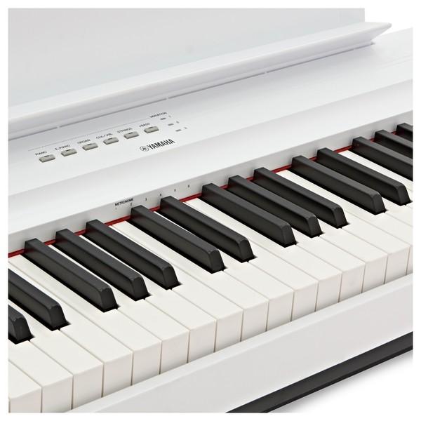 Yamaha P125 Digital Piano, White close2