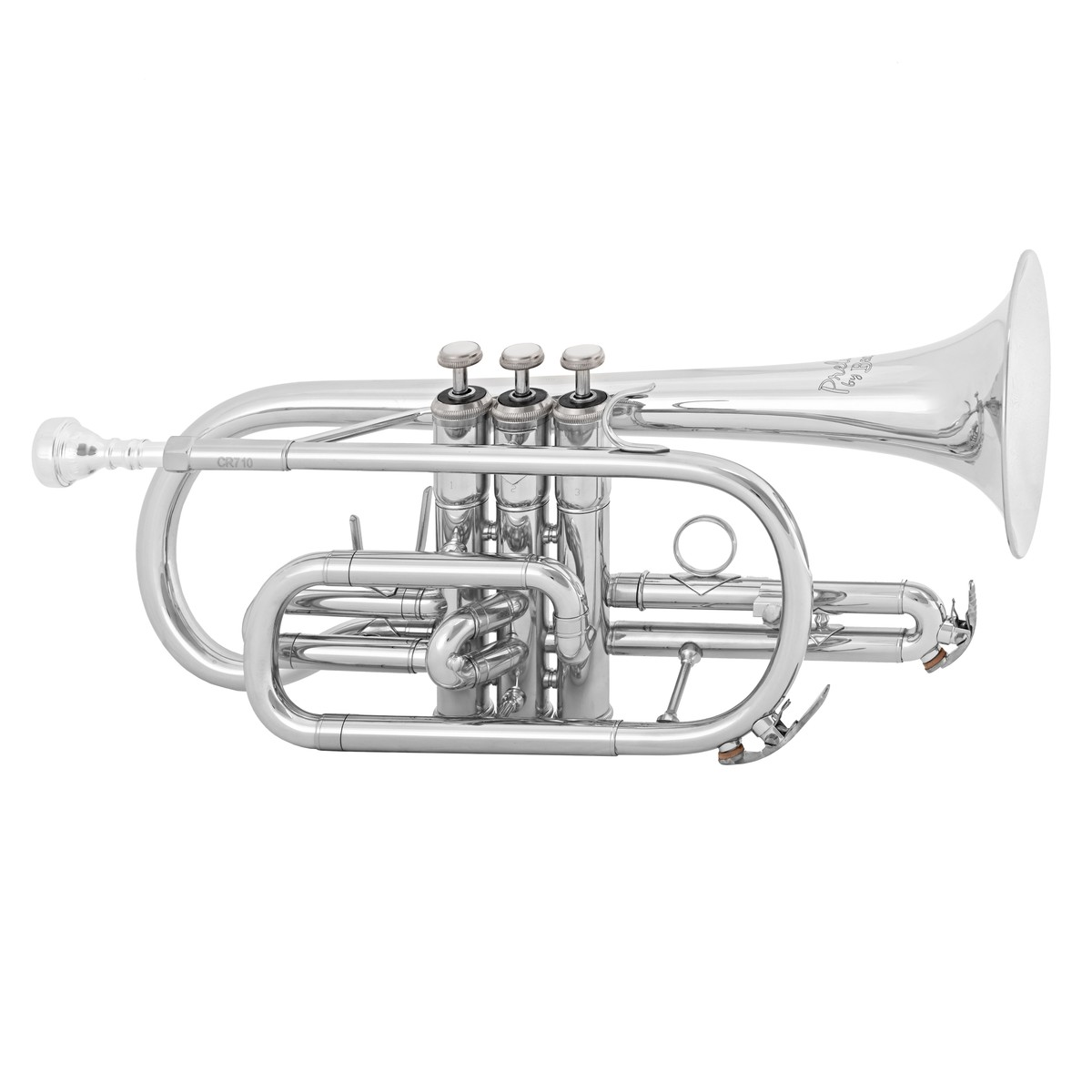 prelude by bach cr710 student bb cornet silver plate b stock at